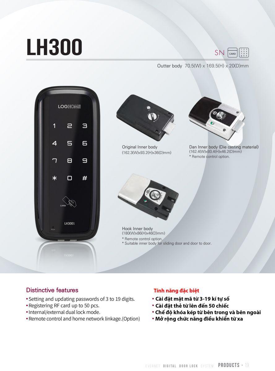 Khóa cửa thẻ từ LOGHOME LH300-SN