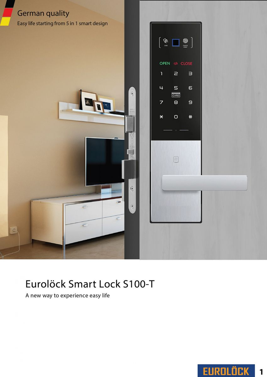 Khóa Bluetooth EUROLOCK S100-T