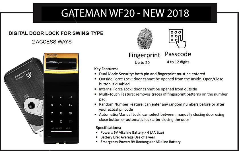 Khóa vân tay Gateman WF21