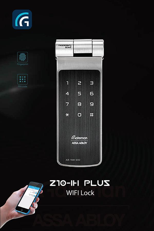 Khóa vân tay - Wifi - Bluetooth GATEMAN Z10-IH (Plus)