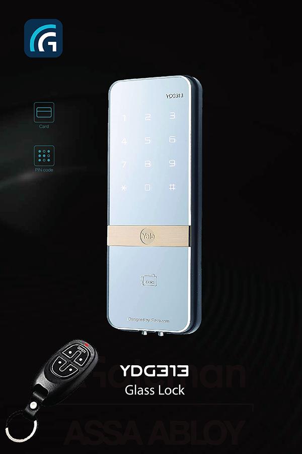 Khóa cửa kính Yale YDR 313 ( Bản bao gồm Remote )